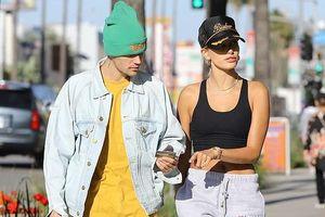 Justin Bieber kém vui khi ra phố cùng vợ sau ồn ào Selena sắp kết hôn