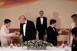 Nhật hoàng Naruhito mở quốc yến chiêu đãi TT Trump tại Hoàng cung