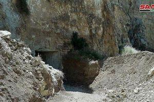Cận cảnh đường hầm lớn của khủng bố vừa được quân đội Syria phát hiện