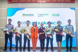 CLB Khởi nghiệp HUTECH nhận tài trợ 350 triệu đồng từ VinTech City