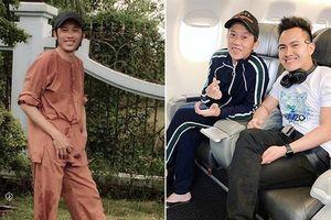Hoài Linh được con trai đãi món cá khô khi sang Mỹ chơi