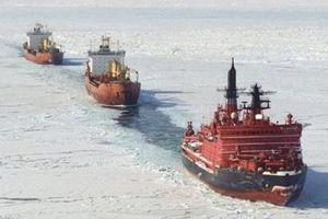 Nga hạ thủy siêu tàu phá băng hạt nhân lớn nhất thế giới
