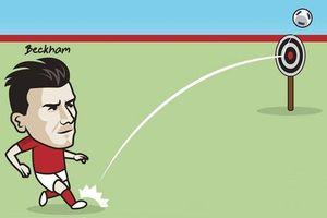 Biếm họa 24h: David Beckham chuyền bóng 'không trượt phát nào'