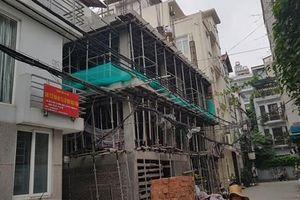 Quận Tây Hồ - Hà Nội: Công trình trong ngõ 35 Đặng Thai Mai vi phạm quy chuẩn