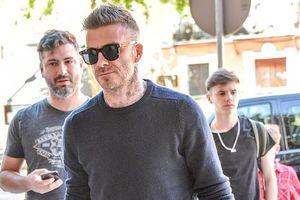 David Beckham điển trai, phong độ trong ngày trở lại Tây Ban Nha