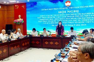 Góp ý dự thảo Báo cáo chính trị Đại hội MTTQ Việt Nam TP Hà Nội