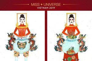 Thiết kế trang phục 'Bàn thờ' cho Hoàng Thùy thi Miss Universe gây tranh cãi dữ dội