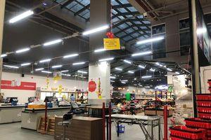Hình ảnh siêu thị Auchan sau nhiều ngày 'tháo khoán' rút khỏi Việt Nam