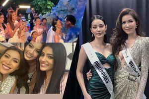 Minh Tú sang Philippines dự đám cưới cô bạn hoa hậu từng mượn váy tại Miss Supranational