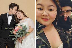 Góc ngôn tình: Cặp đôi 'chồng gầy vợ béo' kết hôn chỉ sau 2 tháng hẹn hò qua mạng
