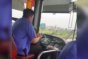 Tài xế lái xe buýt bằng khuỷu tay bị CSGT Bắc Ninh mời lên làm việc