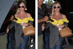 Britney Spears khoe vóc dáng đẫy đà khi ra phố ăn trưa