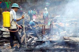 Hỏa hoạn làm cháy rụi một nhà dân ở bản Tịa Tậu (Sơn La)