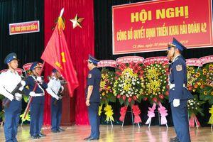 Bộ Tư lệnh Vùng Cảnh sát biển 4 ra mắt Hải đoàn 42