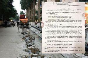 Ðình chỉ đào đường, lắp ống bán nước sai phép