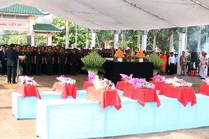 Gia Lai: Truy điệu và an táng 17 hài cốt liệt sĩ hy sinh tại Campuchia