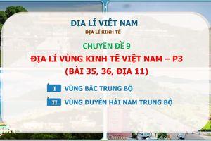 MÔN ĐỊA LÝ: Chuyên đề 9 - Địa lý vùng Kinh tế Việt Nam - P3