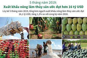Xuất khẩu nông lâm thủy sản ước đạt hơn 16 tỷ USD