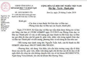 Sơn La: Cảnh báo hiện tượng giả mạo Thanh tra Bộ GD&ĐT