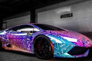 Chiêm ngưỡng Lamborghini Huracan phát sáng rực rỡ của nam ca sĩ Chris Brown