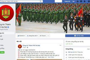 Công an TP Hà Nội mở fanpage trên Facebook tiếp nhận thông tin