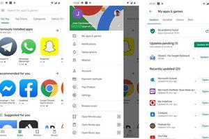 Google làm mới giao diện Google Play Store