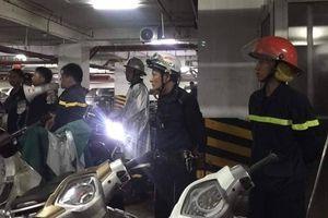 Cháy tầng hầm chung cư cao cấp Hapulico ở Hà Nội