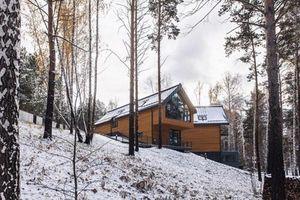 Choáng ngợp trước biệt thự gỗ lung linh hơn 500m2 tại Nga