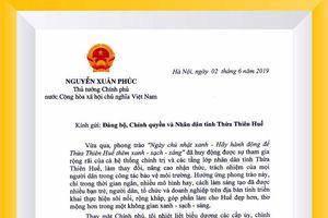 Thủ tướng gửi thư khen phong trào của người dân cố đô Huế