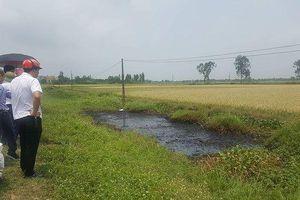 Xác định nghi phạm đổ chất thải độc hại ra mương nước khiến cây cỏ chết cháy