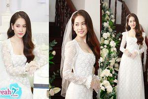 'Vợ' Dương Khắc Linh- cô dâu Sara Lưu đẹp nhẹ nhàng tinh khôi trước giờ rước dâu