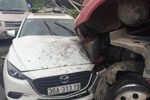 6 xe ô tô tông liên hoàn trên QL1A Thanh Hóa
