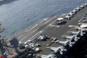 Nhóm tác chiến tàu sân bay Mỹ rầm rộ tập trận sát lãnh hải Iran