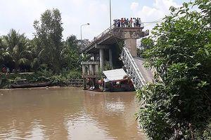 Sập cầu Tân Nghĩa ở Đồng Tháp: Dự kiến 5 ngày tới sẽ lắp đặt nhịp cầu mới