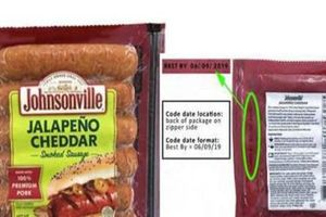 Johnsonville sẽ thu hồi hơn 90 nghìn cây xúc xích hun khói sau khiếu nại của người dùng