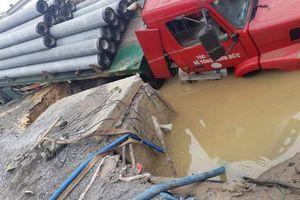 Vỡ đường ống nhà máy nước mặt sông Đuống