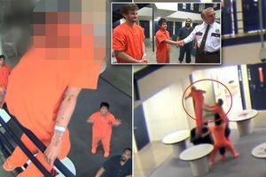 Clip: Tù nhân nhảy lầu tự tử, được 3 bạn tù cứu mạng như phim hành động