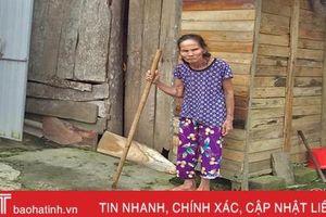 Hoàn cảnh đáng thương của một cựu dân công hỏa tuyến ở Hương Sơn