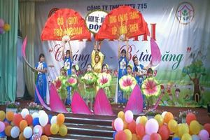 Công ty 715 tổ chức Hội thi 'Cô sáng tạo, bé tài năng'