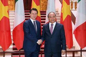 Lãnh đạo nước ta đón, tiếp, hội đàm với Thủ tướng Italy Giuseppe Conte