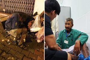 Người Sài Gòn giúp ngay ông cụ xe ôm lở loét 2 chân không ai dám đi
