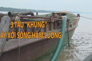 Bắt quả tang 3 tàu 'khủng' cày xới sông Hàm Luông