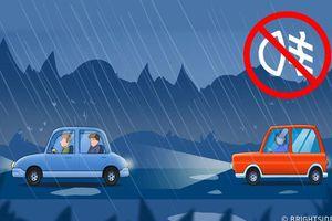 Ghi nhớ ngay 6 mẹo lái xe trong thời tiết xấu là bạn không sợ bị tai nạn xe hơi nữa đâu