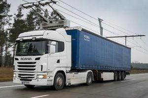 EHighway: Đường cao tốc sạc pin cho xe tải ở Đức