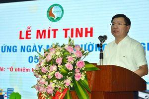 Đại học TN&MT Hà Nội mít tinh hưởng ứng Ngày Môi trường Thế giới