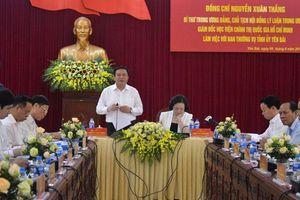 Đoàn công tác của Hội đồng Lý luận Trung ương làm việc tại Yên Bái