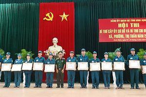 Hội thi Bí thư cấp ủy cơ sở quân sự giỏi ở Bình Định