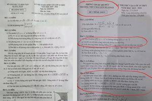 Đề thi chính thức giống đề thi thử tại một trường THCS
