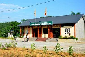 Những thông tin mới về hoạt động tổ chức đấu thầu xây dựng nhà văn hóa thôn, bản ở Tuyên Quang