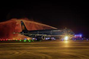 Chuyến bay quốc tế đầu tiên của hàng không Việt Nam đến sân bay Vân Đồn